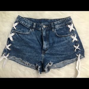 Ladies High Waisted Shorts